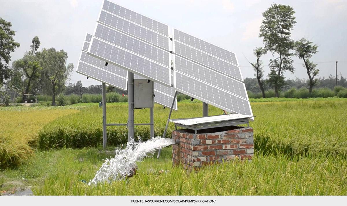 Bomba de agua solar para riego