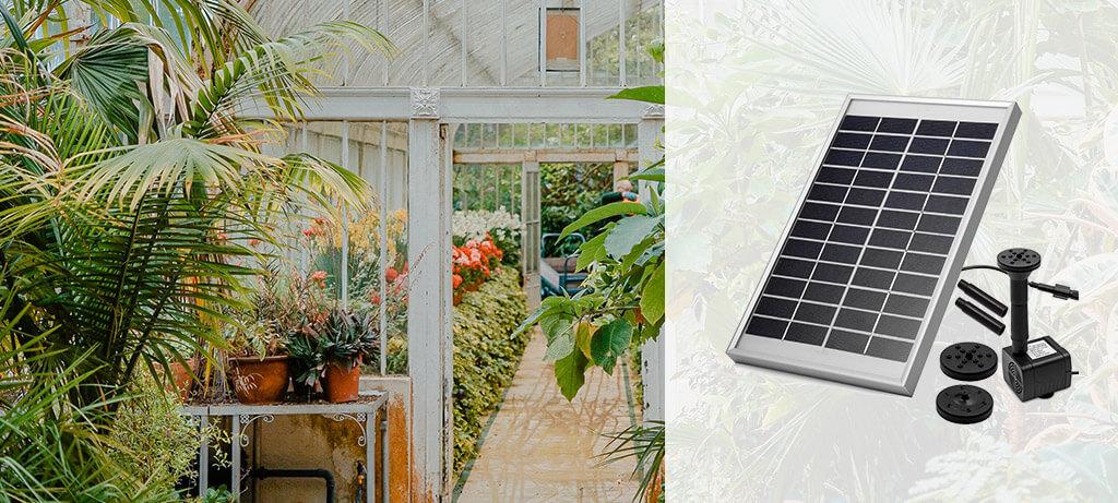 Bombas de agua solares para jardines